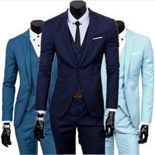 2019 Mens Fashion Three Piece Suit Sets Male Business Casual Coat Jacket Waistcoat Trousers Blazer Plus Size Traje Hombre