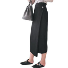 Vintage Long Skirts Womens 2016 Maxi Ladies Skirt Black High Waist Casual Women Skirt NQ077 ruched high waist maxi trumpet skirt