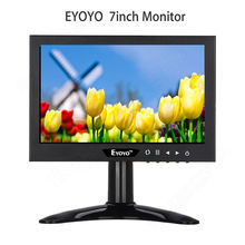 Eyoyo 7″ inch Monitor HDMl VGA BNC Video Audio16:9 HD 1024 * 768 Screen for CCTV DVR Camera