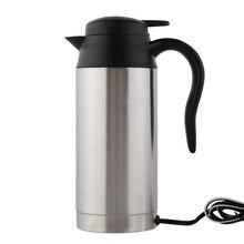 Edelstahl Cup Wasserkocher 750 ml 12 V Auto Heizungs Reise Thermoskannen Reise-kaffee-tee-becher Beheizte Motor Warmwasser Für Auto Lkw Verwenden
