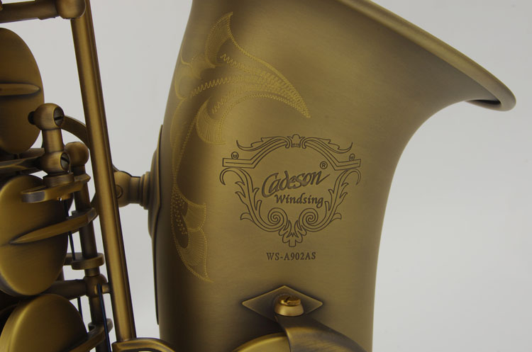 New Arrival Cadeson WS-A902AS Alto Saxophone High Quality Brass Instruments Antique Copper Saxophone E Flat Sax With Case alto saxophone new eb selmer silver alto saxophone plated brass musical instruments professional saxophone alto sax e flat