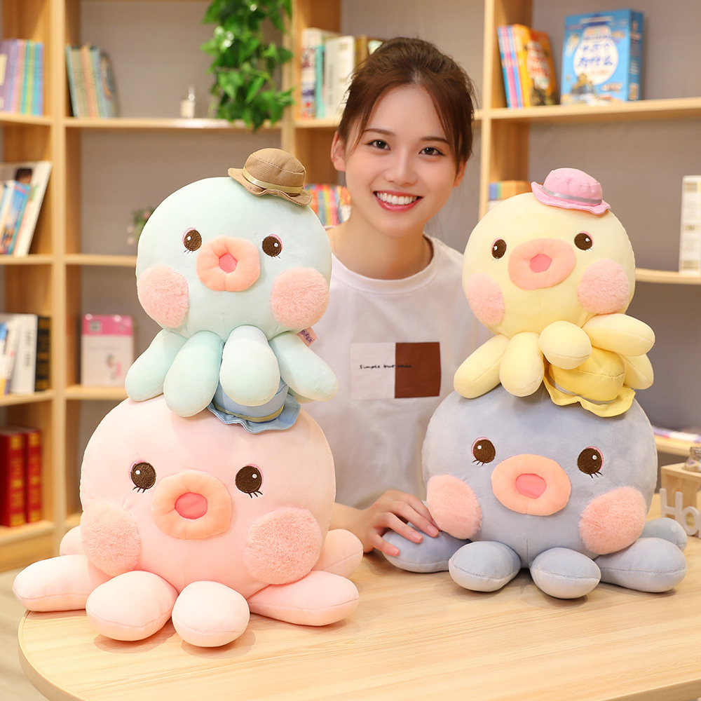 Lovely New 1pc Cute Octopus Plush Toy Stuffed Soft Kawaii Animal Cartoon Pillow Gift for Kids Baby Children Good Quality