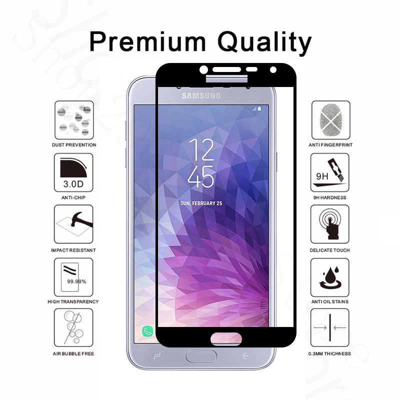 Image 2 - For Samsung J4 2018 Tempered Glass For Samsung Galaxy J4 2018 J400 J400F SM J400F Protective Film Samung J 4 2018 screen cover-in Phone Screen Protectors from Cellphones & Telecommunications