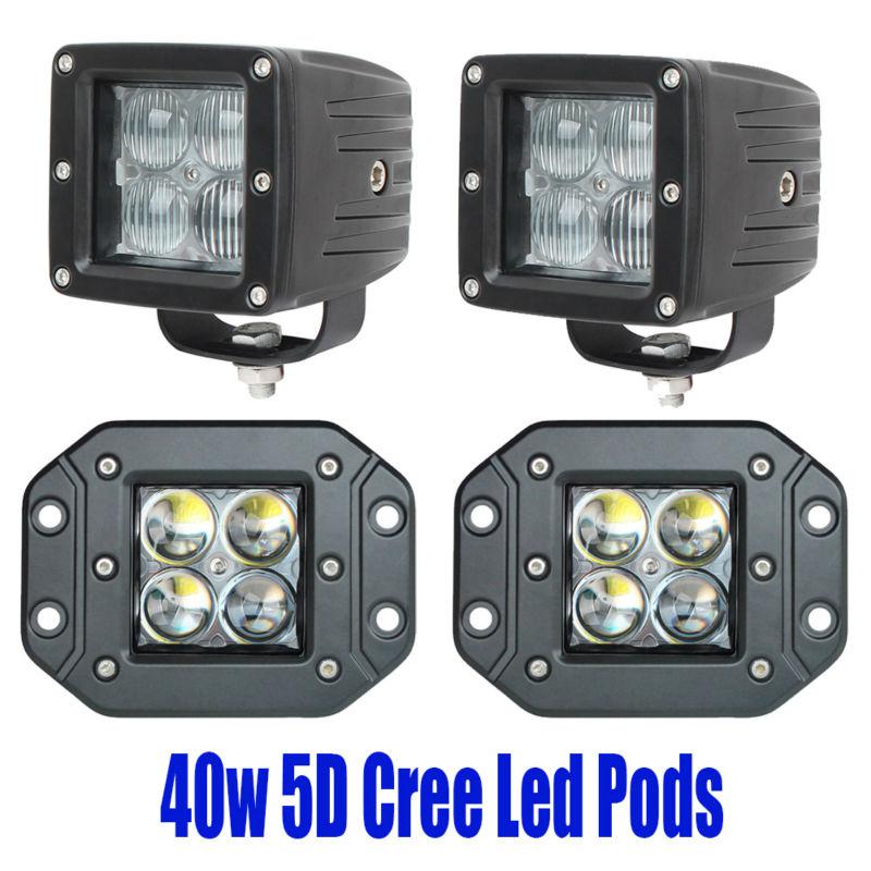 2 stücke 5D 40 Watt Led Unterputz Pod Führte Fahren Arbeitslicht - Auto Lichter