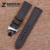 New orange costurado dos homens relógio de aço preto carbon fiber watch band strap implantação buckle 18mm 20mm 22mm 24mm