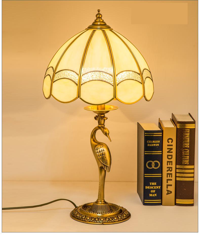 Moderne nouveauté LED grue travail lumière bureau cuivre table lampe verre couverture stand étude lecture lampe chambre E14 bibliothèque bureau lampe