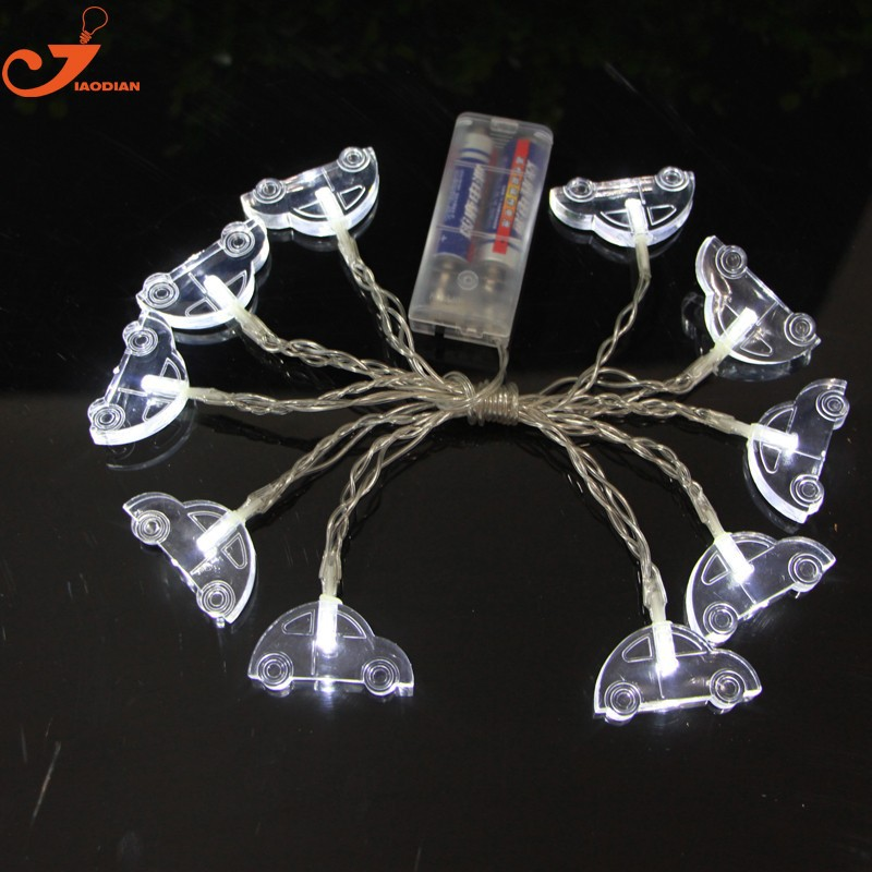 Christmas Tree Indoor Lights: Car Fairy Lights 10 Lamp LED Christmas Tree Decor Indoor