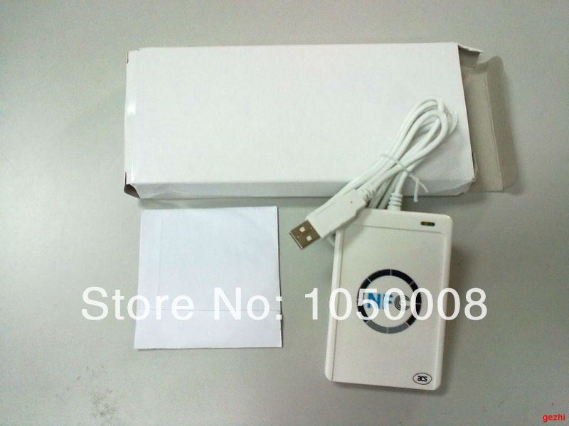 USB ACR122U NFC rfid Contactless Smart IC Card/tag Reader and Writer 13.56MHz +10pcs nfc IC Cards + 1 SDK CD