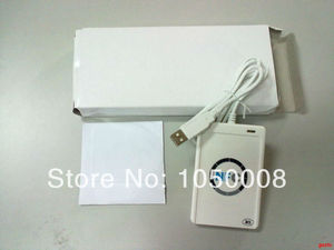 Image 2 - USB ACR122U NFC rfid מגע חכם IC כרטיס/תג וסופר 13.56MHz + 5pcs nfc IC כרטיסי + 1 SDK CD