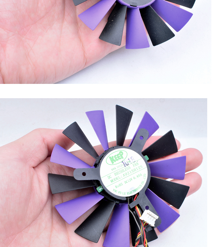 Brand new original A9215H12S 12V 0.40A 4 line SPARKLE Unicorn X240 graphics card cooling fan