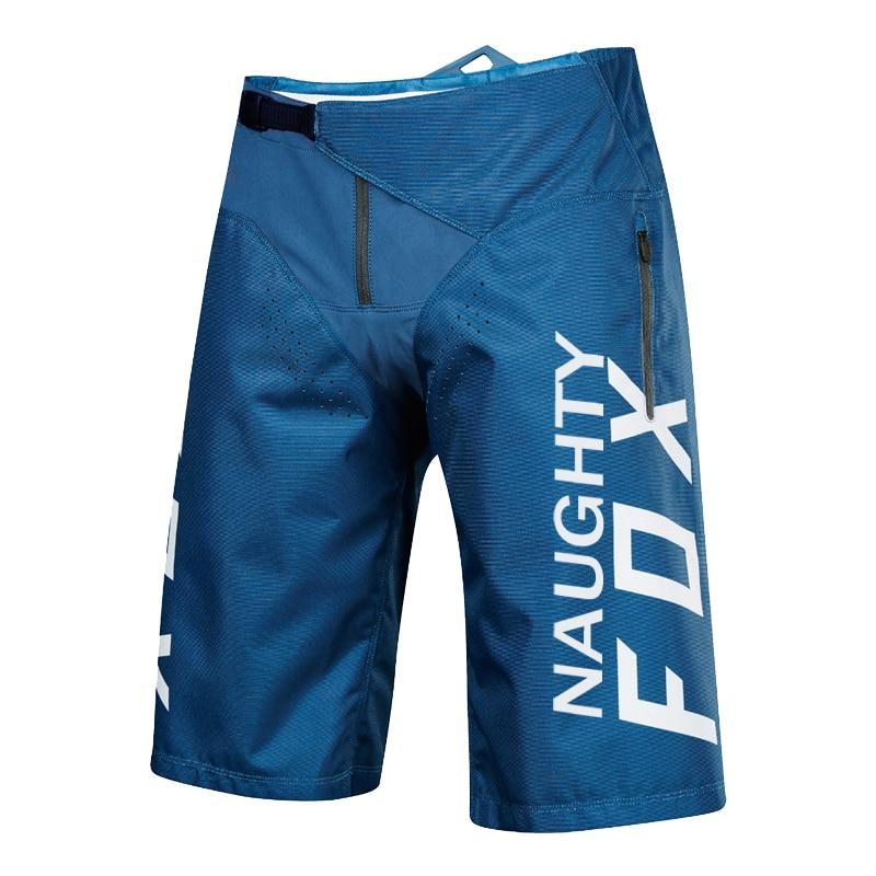 NAUGHTY FOX MX Blue DEMO DH   Shorts   Men Durable MTB Moto   Shorts   Mountain Bike   Short   Motocross Motorcycle   Short