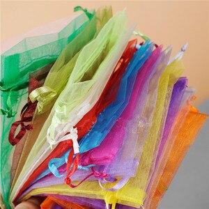 Image 3 - En gros Organza sac 17x23 cm bijoux emballage affichage pochettes mariage noël cadeau sacs bijoux sacs et pochettes 100 pcs/lot