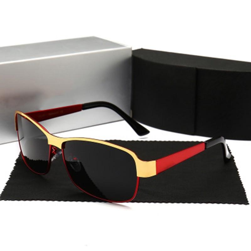 Для мужчин Классические солнцезащитные очки для вождения открытого транспорта металлический каркас с цветными блоками Модные солнцезащит...
