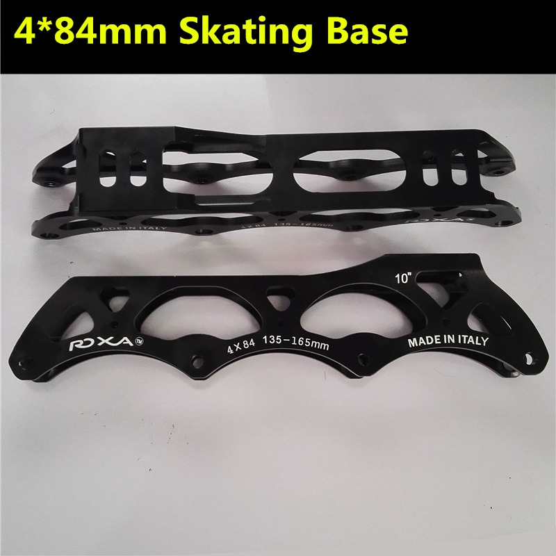 10'' inches 4x84mm Inline Speed skate frame for 84mm Skating wheels, 7000 series Alloy 198g Weight each cityrun inline speed skate frame 3 125mm 12 6 aluminum alloy 7075 for 3 wheels speed skating shoes basins free shipping bases