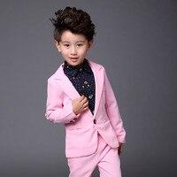 Costume Costume Suit Boy Suit Suit Girl Suit Summer Thin Section Pink Two Piece Suit Suit