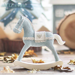 Miz Home Blue Horse Handmade Craft Toy for Children Roly-poly Gift for  Kids Christmas Decoration Birthday Gift