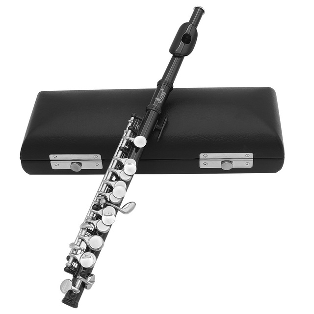 Half-size Flute Silver Plated C Key Cupronickel with Cleaning Cloth Screwdriver Padded Box