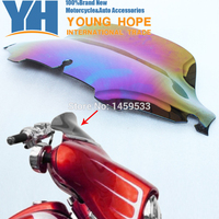Free Shipping 8 Windshield Blooming Smoke Wave Windscreen For 96 13 Harley Electra Glide UltraClassic Street