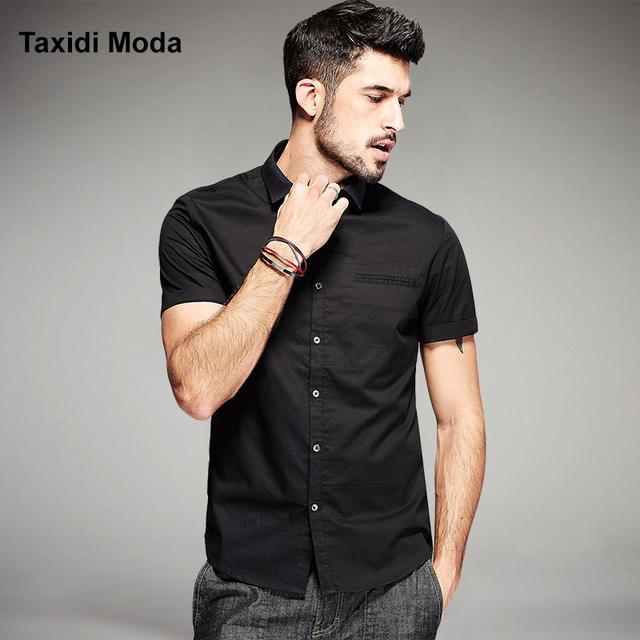 Nueva moda de verano para hombre camisetas casuales de algodón de manga corta marca clothing del hombre slim fit ropa vetement homme