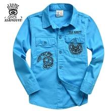 XIAOYOUYU Bande Dessinée Décoration Garçons De Mode Chemises Taille 120-160 cm Nouvelle Arrivée Poche Conception Enfants Habillements Occasionnels