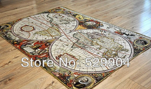 Antique World Map Tapestry.120cm X 85cm Antique Old Brown World Map Wall Tapestry Or Painting