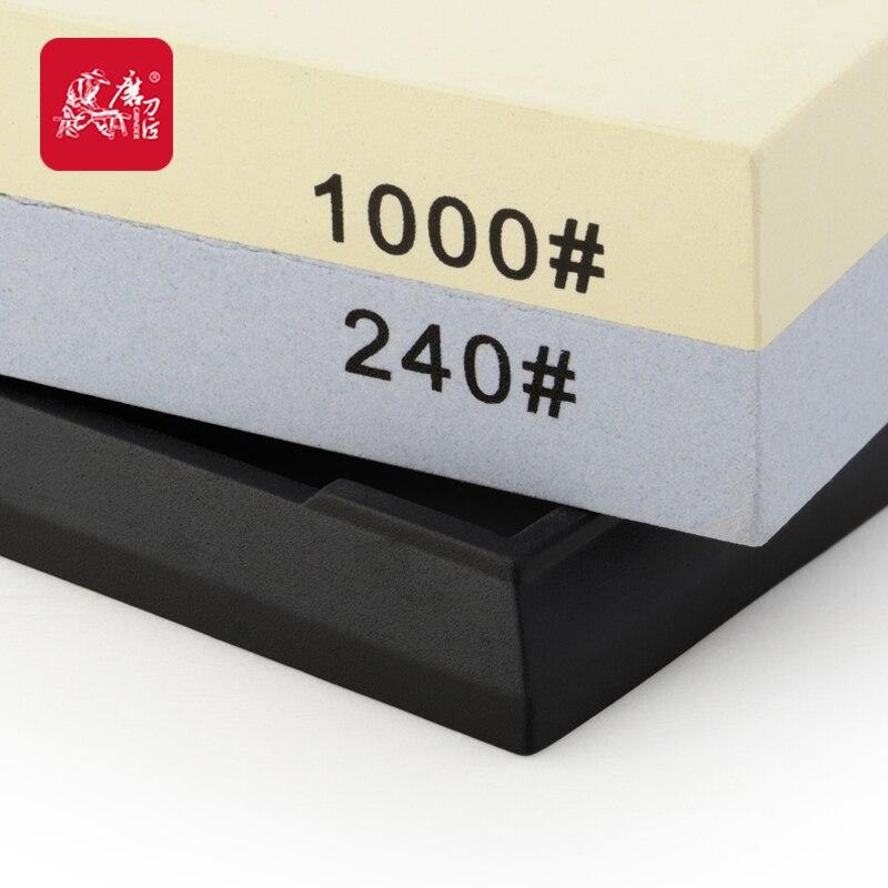 TAIDEA Double sided white corundum Stone 240 1000 Grit font b Knife b font sharpener corundum