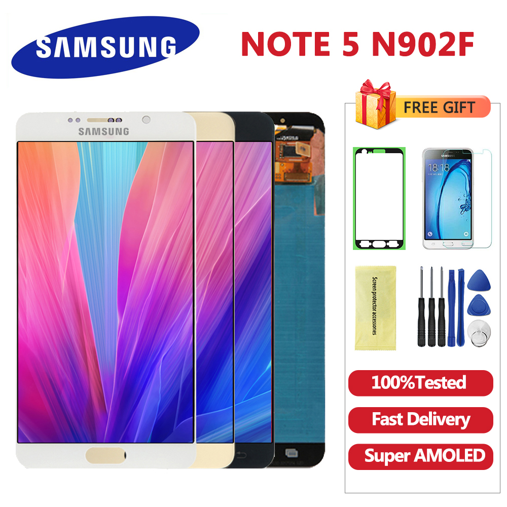 5.7'' OLED Note 5 LCD for SAMSUNG Galaxy Note 5 Display LCD Touch Screen For Samsung Note5 N920A N9200 SM-N920 N920C Digitizer