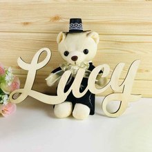 Señales con tu nombre personalizadas, letras de madera, decoración para la pared, color madera, personalizado para niños