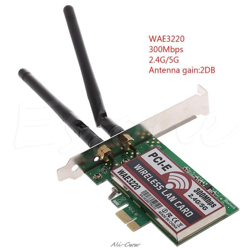 300M Desktop Dual Band LAN Wifi Wireless PCI-e PCI Express Card Wlan Adapter