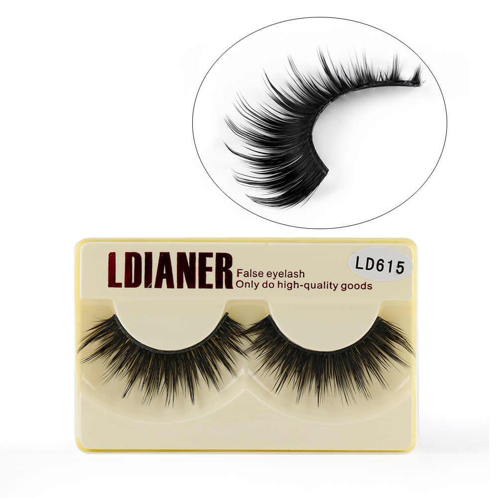 17dcf866afe 1 Pair Makeup Natural Thick Fake Eye Lashes Long Cross False Eyelashes  Extension Tools Beauty Cosmetic