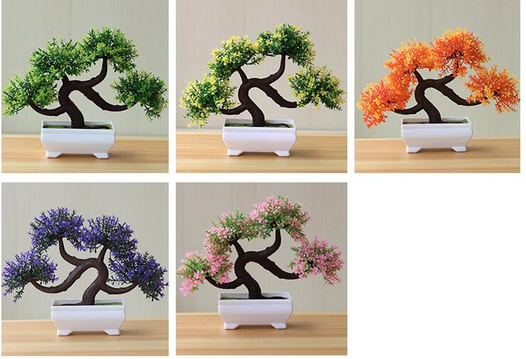 Bonsoplant Artificial Bonsai Small Tree Pot Plants For Home Decoration bonsai small tree