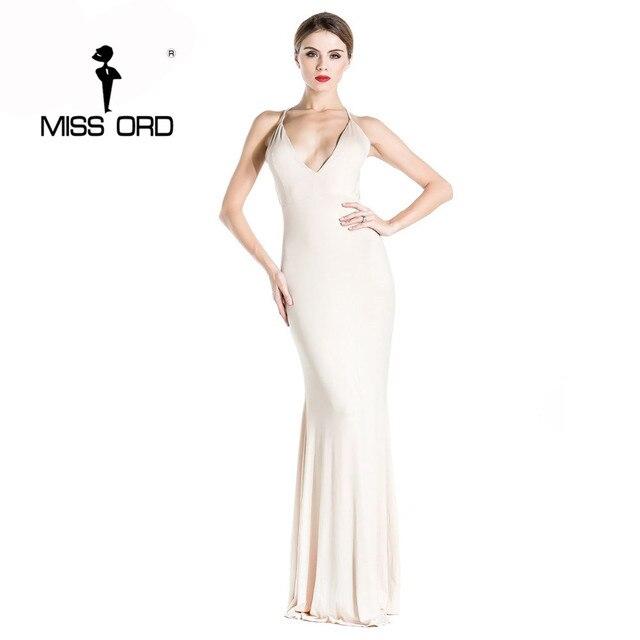 Free shoping Missord 2018 Sexy v-neck halter dress party dress vestidos FT1876
