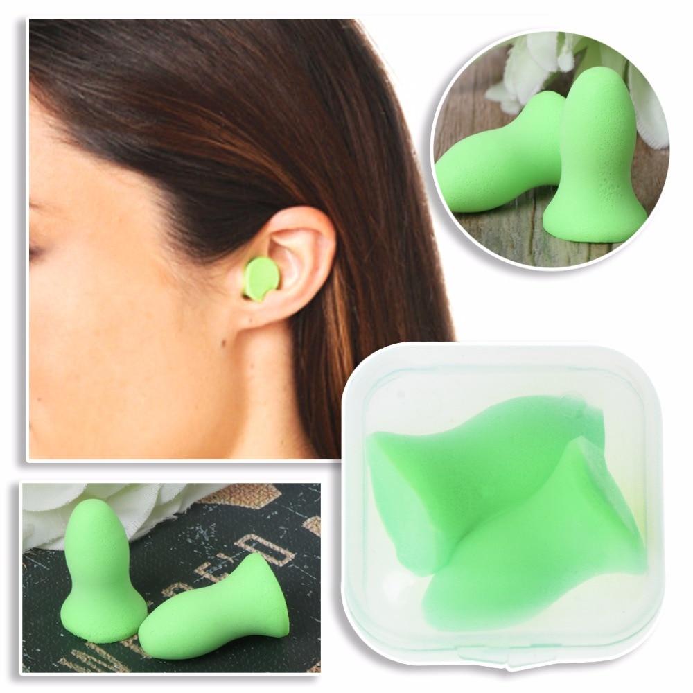 1 Pair Soft Foam Ear Plugs Tapered Travel Sleep Noise Prevention Earplugs