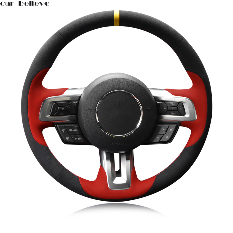 Car steering wheel cover For ford fiesta bmw e39 f30 focus 2 mondeo mk4 nissan note vw golf 6 5 7 steering wheel car accessories forever sharp a01 56p steering wheel adapter 5 6 hole billet alum