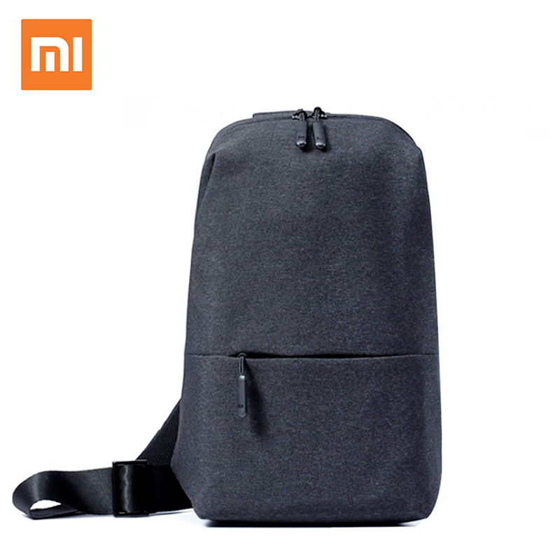 Original Xiaomi Minimalist Urban Backpack Leisure Chest Pack Men Women Small Shoulder Messenger Bags Rucksa for mi phones wallet