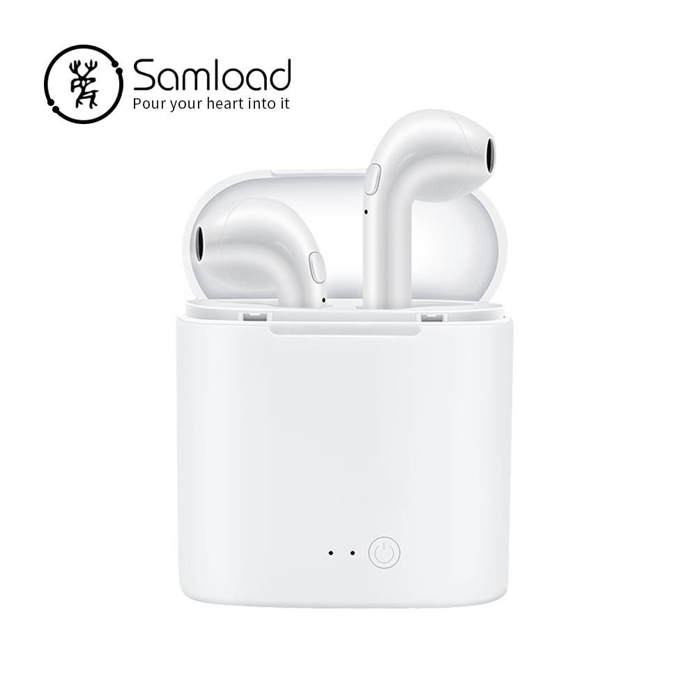 Samload Bluetooth Earbuds Wireless Headphones In-Ear Stereo Headsets Sport Earphones Earpieces With Microphone for iPhone X 8 8