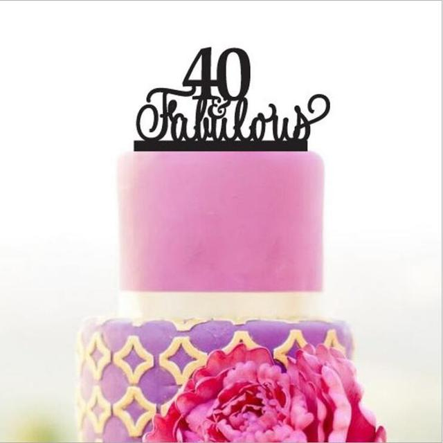 Fabulous Birthday Cake Toppercustom Color Toppers40th Topper Giftunique Anniversary