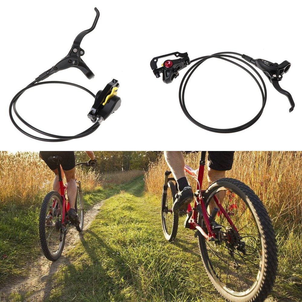 1 Set Bike Hydraulic Brake Bicycle Disc Front/Rear Oil Brake Aluminium Alloy Braking Set Clamp For Mountain Bicycle MTB