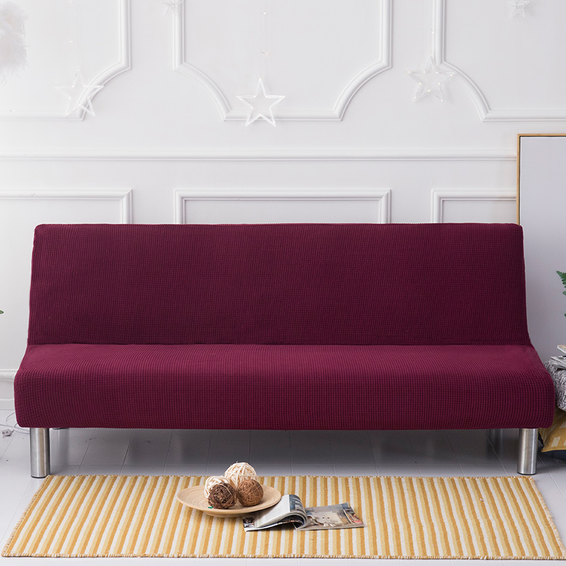 US $35.75 35% OFF|Dark Wine Red Upholstered Tufted Sofa Cover Sofa  Slipcovers Couch Slipcovers Covers Armless Sofa Cover -in Sofa Cover from  Home & ...