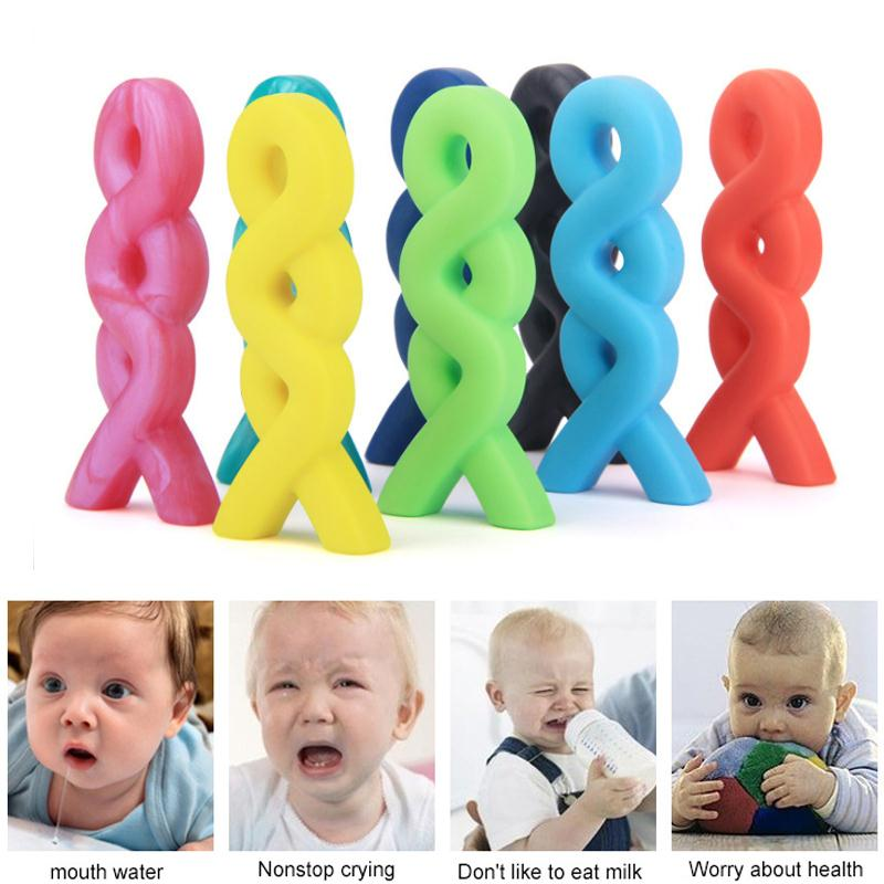 Baby Teething Necklace Food Silicone Teether Pacifier Autism Sensory Chew Toy Baby Teether Pendant