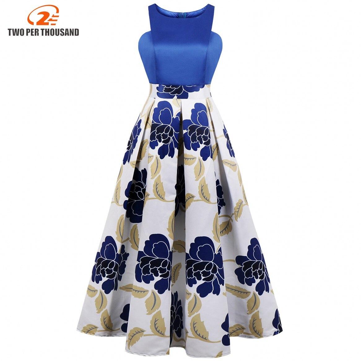 4XL grande taille imprimé Floral formelle Maxi robe élégante magnifique femmes Vintage sans manches grande taille 3XL soirée fête robes longues