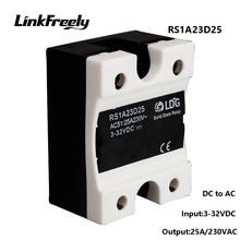 цена на RS1A23D25 Smart Mini Single Phase Solid State Relay 25A 220V,Output 24-280VAC Input 3V 5V 12V 24V 32V DC AC SSR Relay Switch