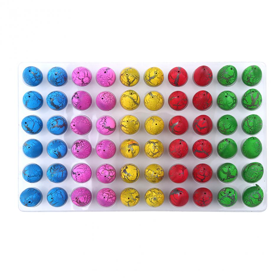 60Pcs Sets Magic Dinosaur Eggs Toys Water Hatching Dinosaur Egg Toys For Children Educational Novelty Gag