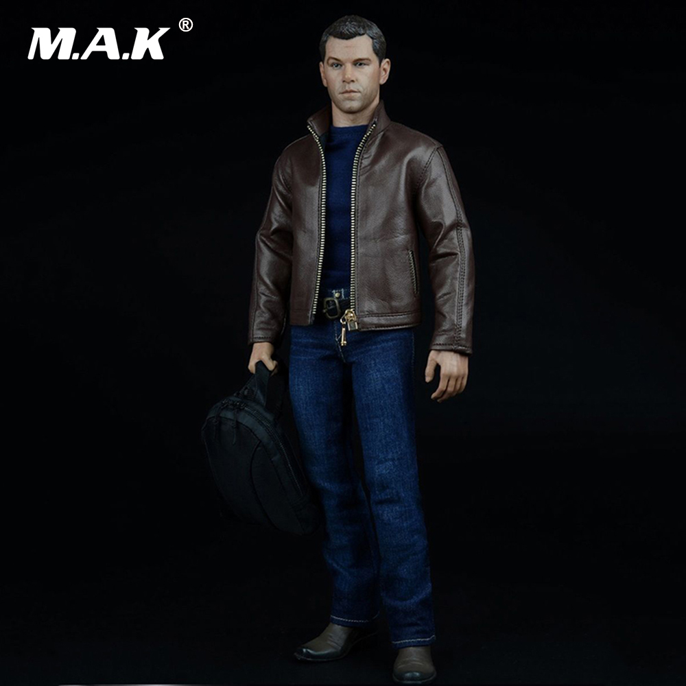 1:6 Scale Male Agent Agent Of Leather Suits Jacket Shirt Jeans Set for 12 Inches Action Figure fear agent vol 6 2nd edition