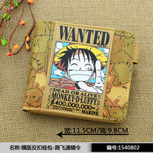 2015 new version One piece wanted wallet purse Luffy/Chopper/Zoro wanted purse P013