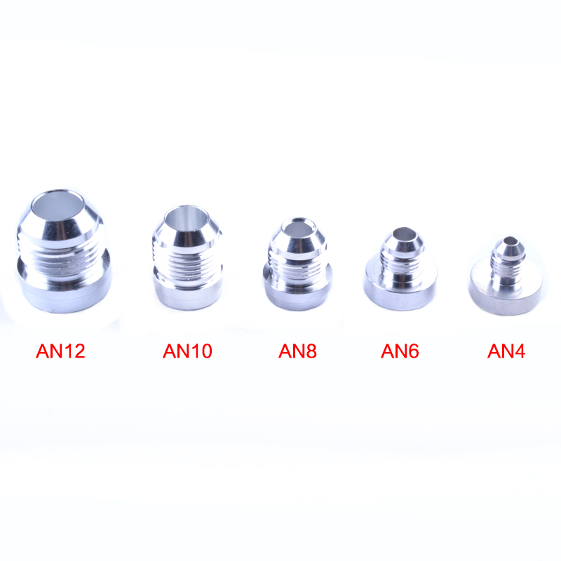 6an An4 6 8 10 12-An Straight Thread Swivel Oil/Fuel/Gas Line Hose End Male Fitting Adaptor An Weld On Bung  Billet Fittings