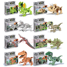 Jurassic World Park Dinosaurs Figures Building Tyrannosaurus Assemble Blocks Classic Kids Toy