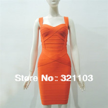 Ttight-fitting yellow orange red sexy bandage dress figure-flattering bodycon fashion bandage dresses DM305