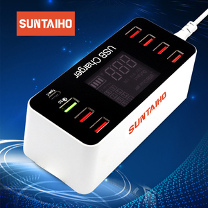 Image 1 - Station de chargement USB Charge rapide 3.0 4.0 40 W PD USB type C intelligent Station de chargement rapide affichage Led pour chargeur iPhone