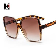 SHAUNA Oversize Square Sunglasses Women Double Colors Frame Gradient Shades